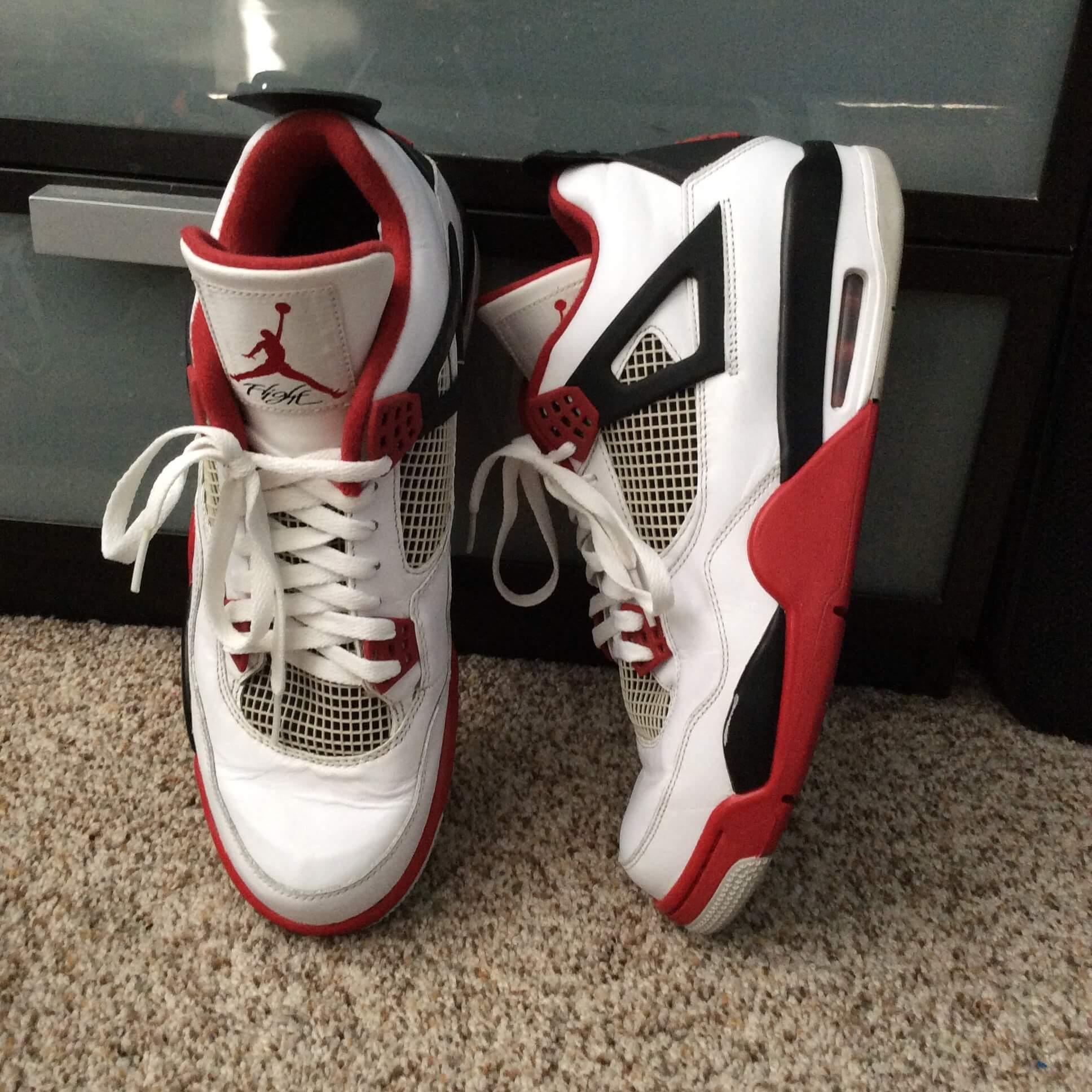 "official photos 63b9c 5c8cd Air Jordan 4 Retro ""2012 Release "" white varsity red-black 308497110"